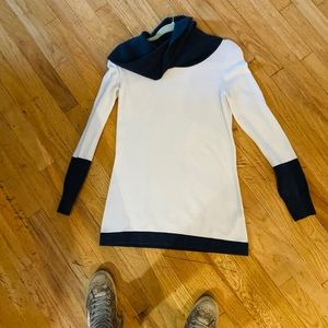 LN French Connection White Cowlneck Midi Sweater S